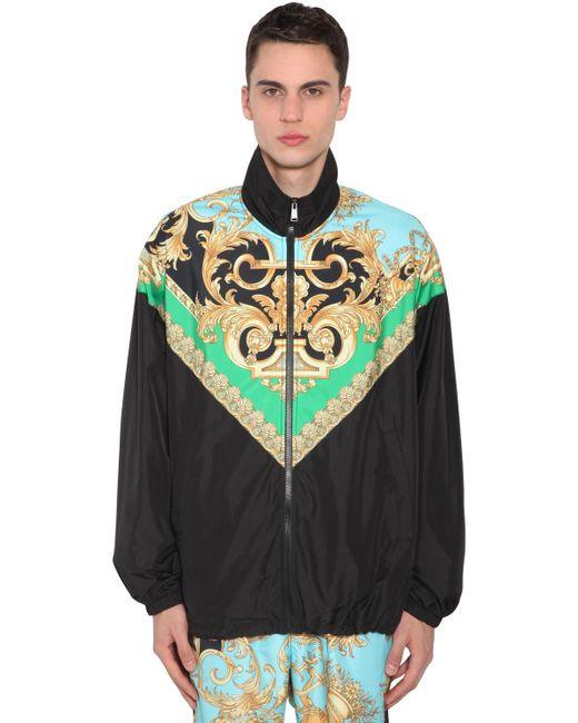 メンズ Versace バロック トラックジャケット Multicolor