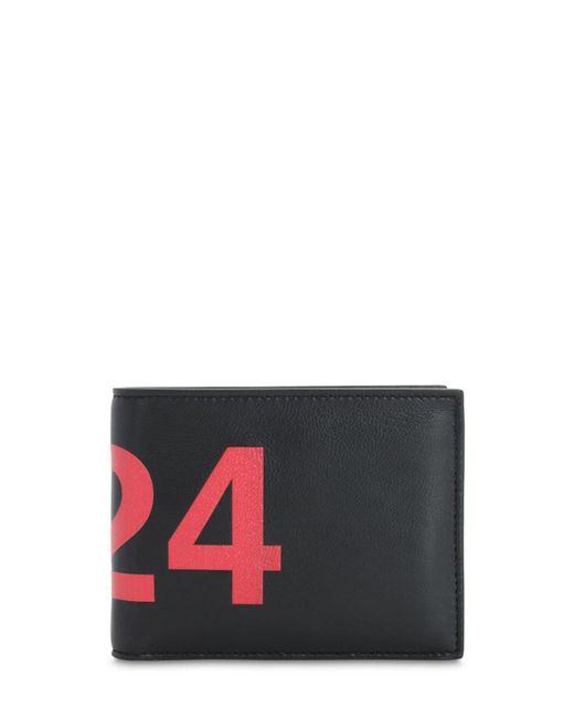 メンズ 424 レザーウォレット Black