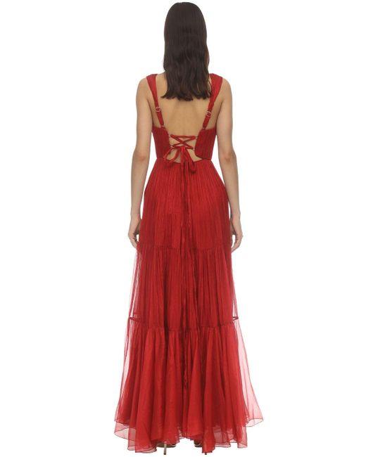 Maria Lucia Hohan Mairi モスリンドレス Red