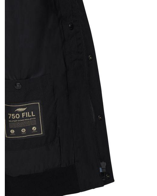 メンズ Belstaff Ridge 2.0 フーデッドダウンジャケット Black