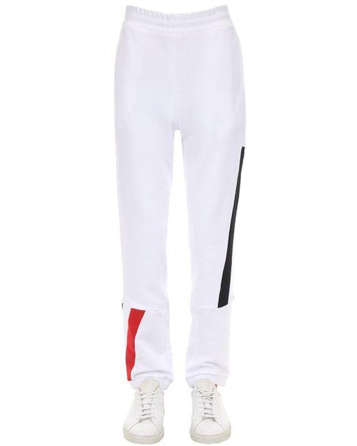 メンズ Moncler コットンスウェットパンツ White