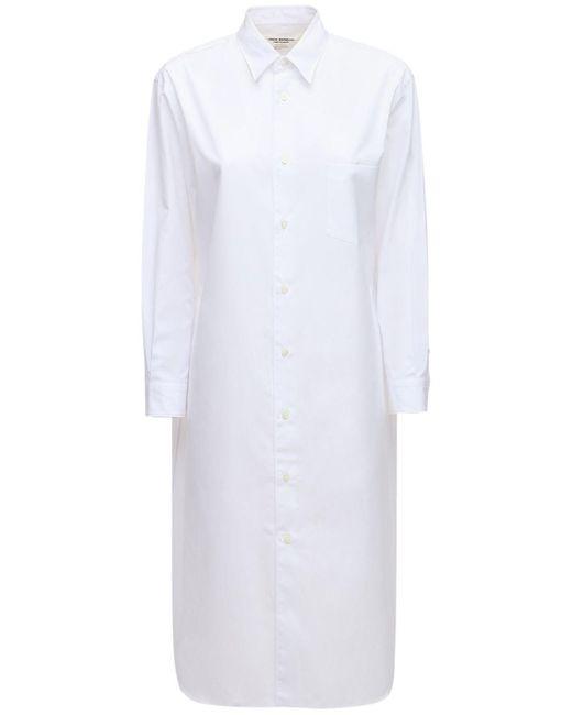Junya Watanabe コットンポプリンシャツドレス White