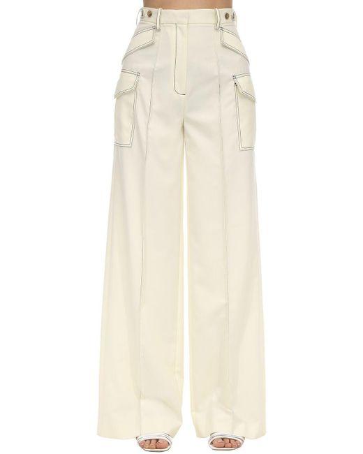 ROKH ビスコースブレンドパンツ White