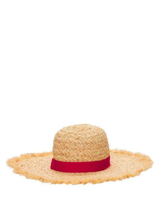 "Chapeau En Paille ""pamela"" Borsalino en coloris Brown"