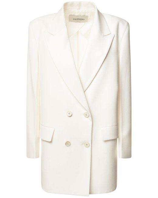 Valentino ウールブレンドジャケット White