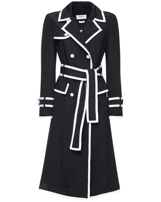 Thom Browne シルクトレンチドレス Black