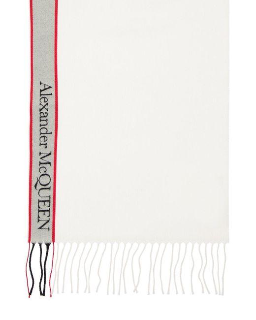 Sciarpa In Lana E Cashmere di Alexander McQueen in Multicolor