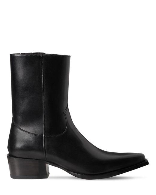 Кожаные Ботинки 55mm DSquared² для него, цвет: Black