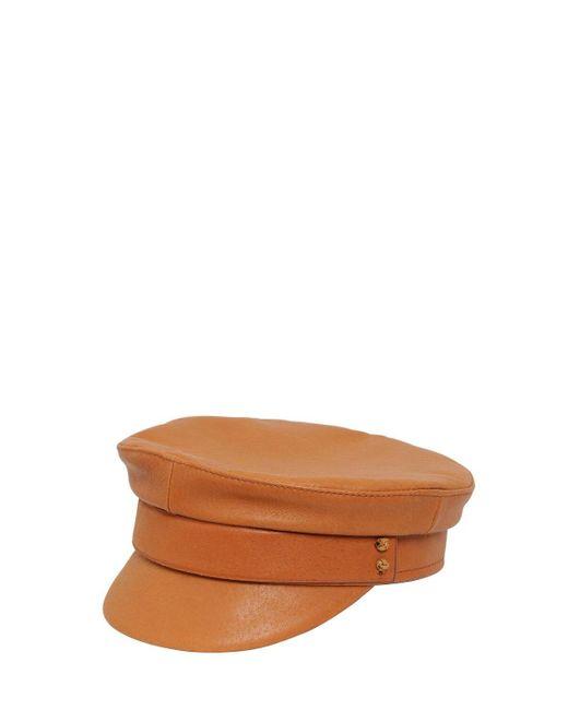 Ruslan Baginskiy Baker Boy レザー帽 Brown