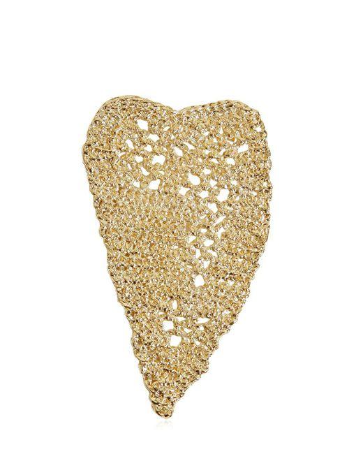 Maison Margiela - Metallic Heart Crochet Earrings - Lyst