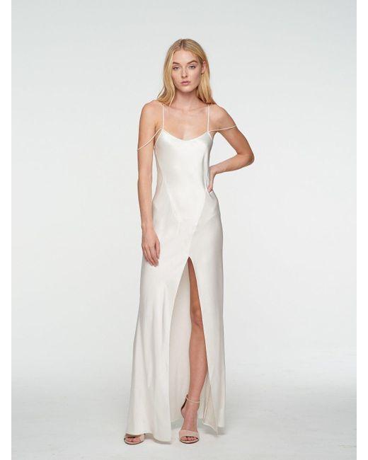 Kiki de Montparnasse サテンドレス White