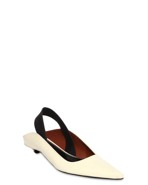 Chaussures Plates En Cuir Avec Bride 20Mm Proenza Schouler en coloris Multicolor