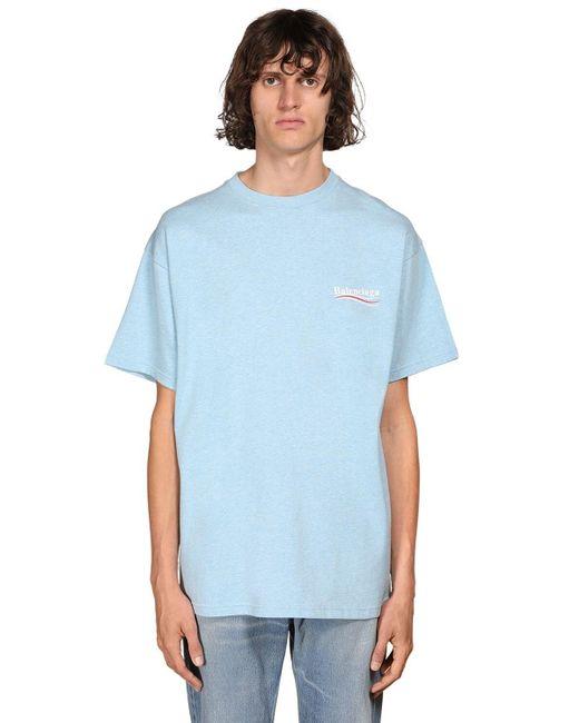 メンズ Balenciaga クルーネックtシャツ Blue