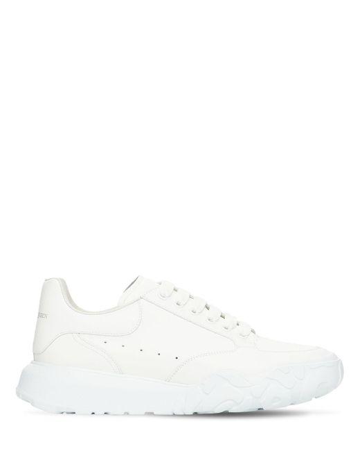 Кожаные Кроссовки Alexander McQueen для него, цвет: White