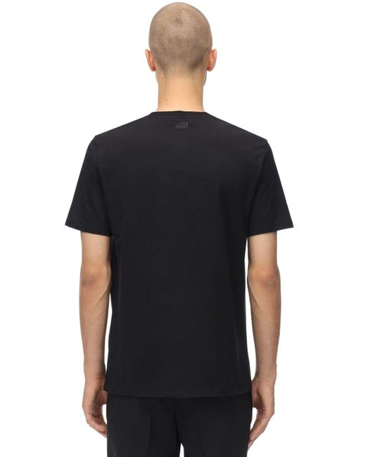 T-Shirt In Jersey Di Cotone di Neil Barrett in Black da Uomo