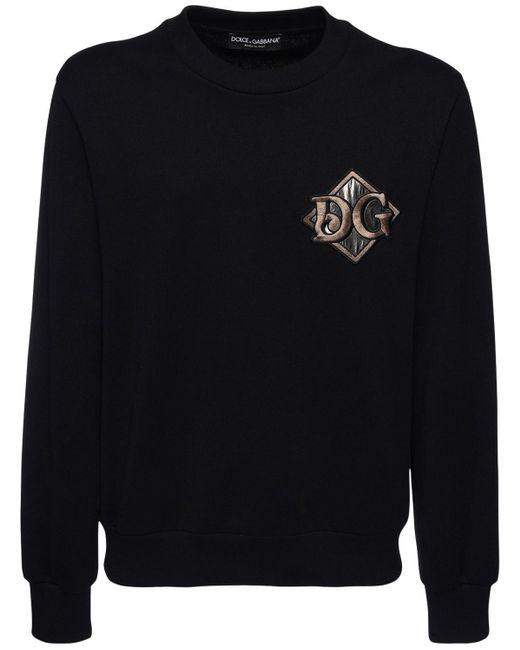 メンズ Dolce & Gabbana Dg コットンスウェットシャツ Black