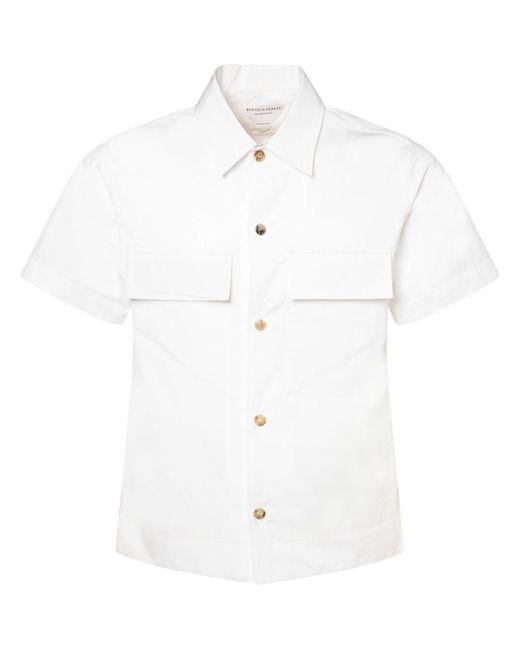 Bottega Veneta Hemd Aus Stretch-baumwollpopeline in White für Herren