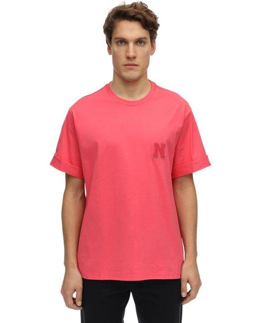 メンズ Neil Barrett コットンジャージーtシャツ Pink
