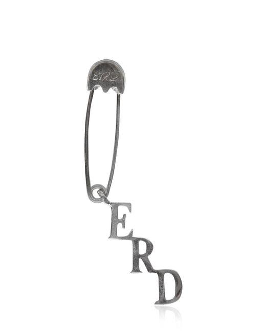 Enfants Riches Deprimes - Metallic Silver Safety Pin Single Earring - Lyst