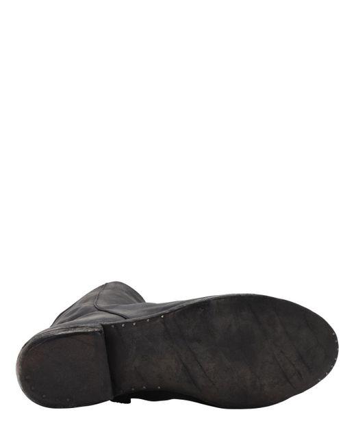 メンズ A Diciannoveventitre レザーダブルジップブーツ Black
