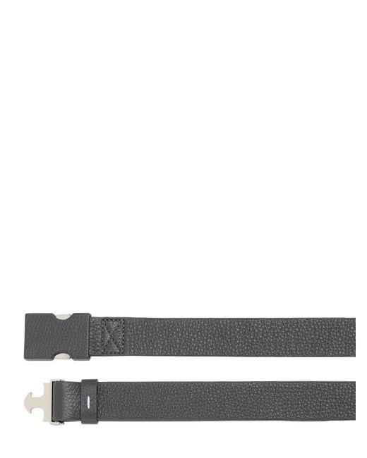 メンズ Maison Margiela レザーベルト 30mm Gray