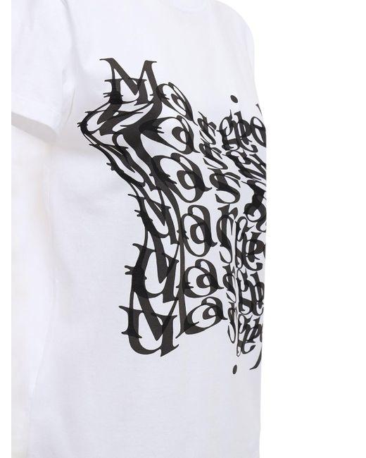 Maison Margiela コットンジャージーtシャツ White