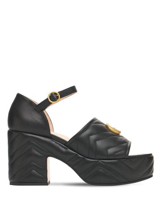 Босоножки На Платформе 95mm Gucci, цвет: Black