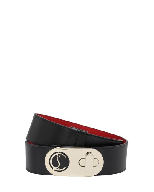 Кожаный Ремень Elisa 50мм Christian Louboutin, цвет: Black