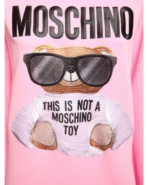 Moschino Bear ジャージースウェットシャツ Pink
