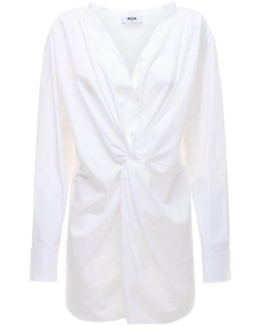 MSGM コットンポプリンシャツ White
