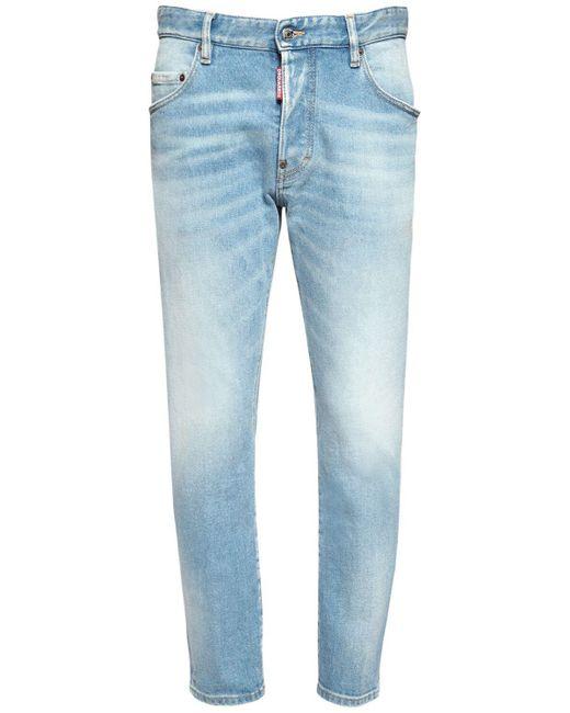 DSquared² Blue 16cm Skater Cotton Denim Jeans for men