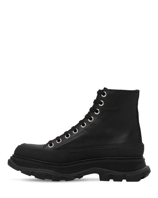 Кожаные Ботинки-комбат 45mm Alexander McQueen, цвет: Black