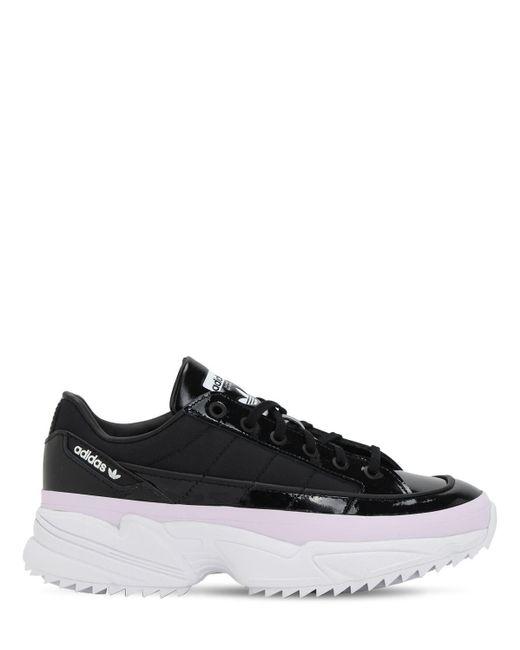 Adidas Originals Kiellor コーテッドレザースニーカー Black