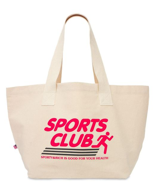 Sporty & Rich Sports Club コットントートバッグ Multicolor