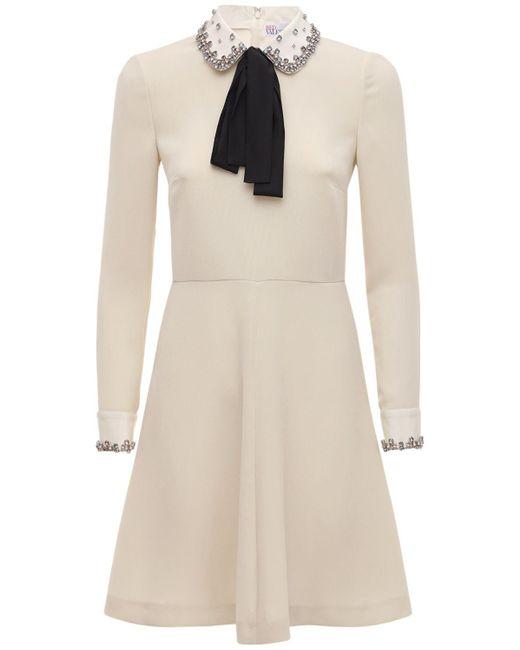 RED Valentino Exclusive クレープミニドレス White