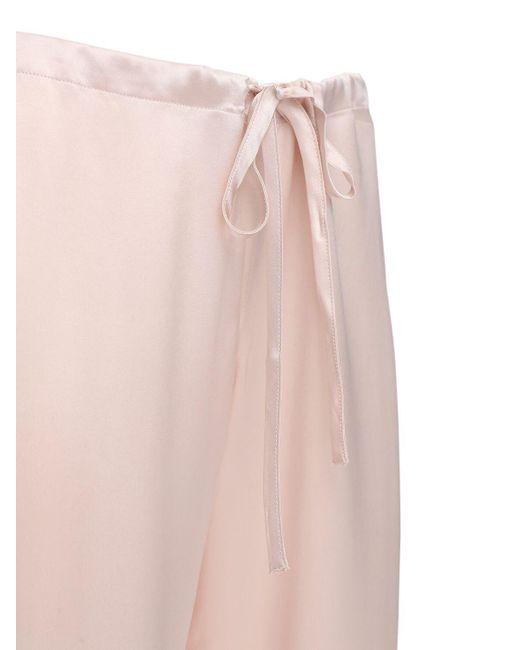 La Perla シルクサテンパジャマ Pink