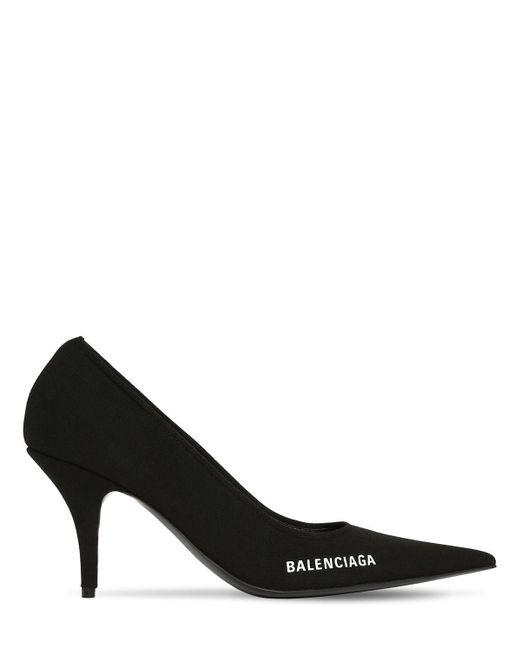 Balenciaga 80mm Knife ニットパンプス Black
