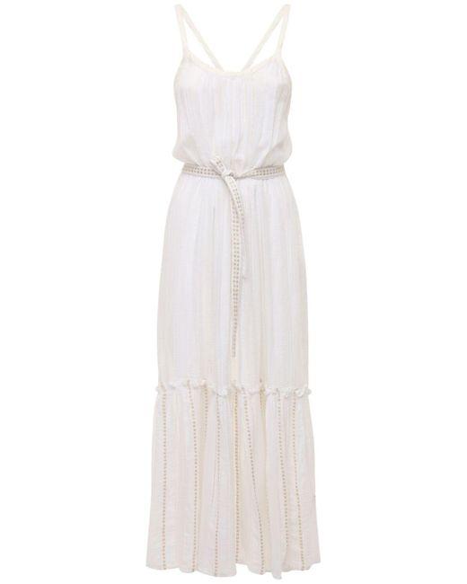Lemlem Kelali Sun コットンドレス White
