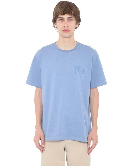 メンズ J.W. Anderson コットンジャージーtシャツ Blue