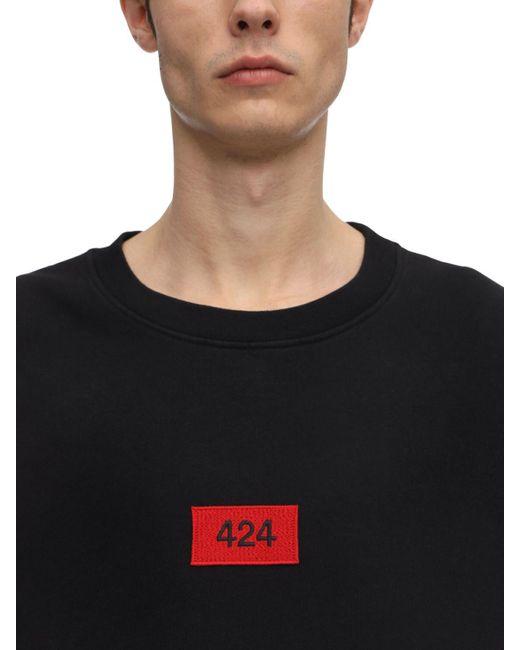 メンズ 424 コットンジャージースウェットシャツ Black