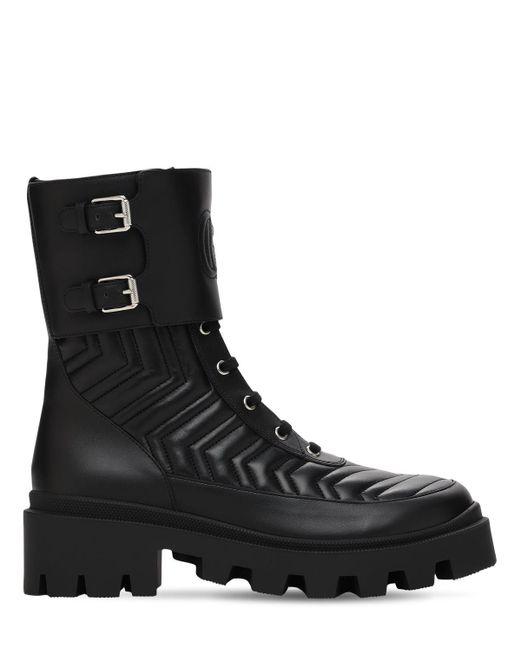 Ботинки С Логотипом Interlocking G Gucci, цвет: Black