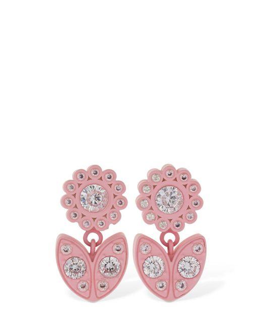 Bottega Veneta Flower ドロップピアス Pink