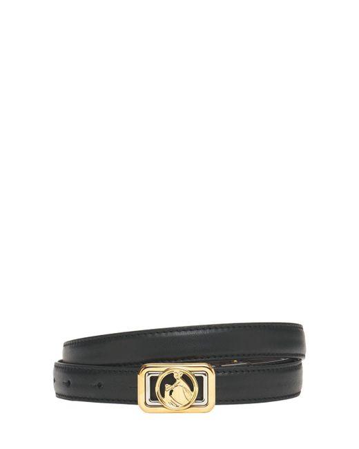 Кожаный Ремень 30мм Lanvin, цвет: Black