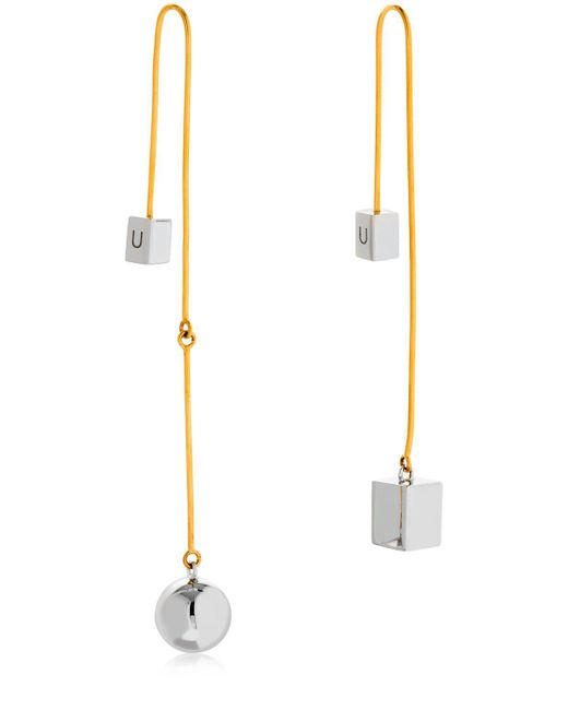 Uribe - Metallic Lucy Earrings - Lyst