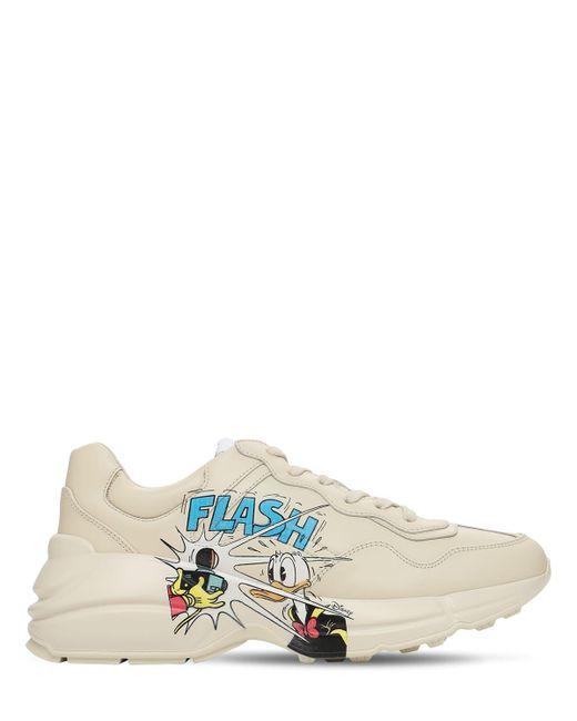 Кроссовки Disney X Rhyton 45 Мм Gucci, цвет: White