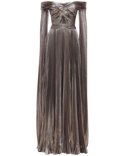 Длинное Платье С Люрексом Zuhair Murad, цвет: Metallic