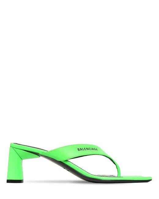 Balenciaga レザーソングサンダル 60mm Green