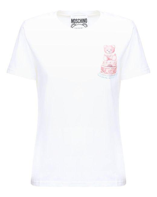 Moschino コットンジャージーtシャツ White