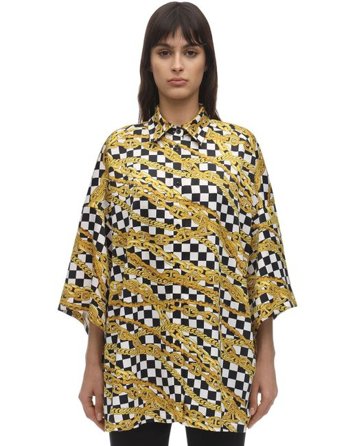 Balenciaga Chains ライトサテンシャツ Multicolor