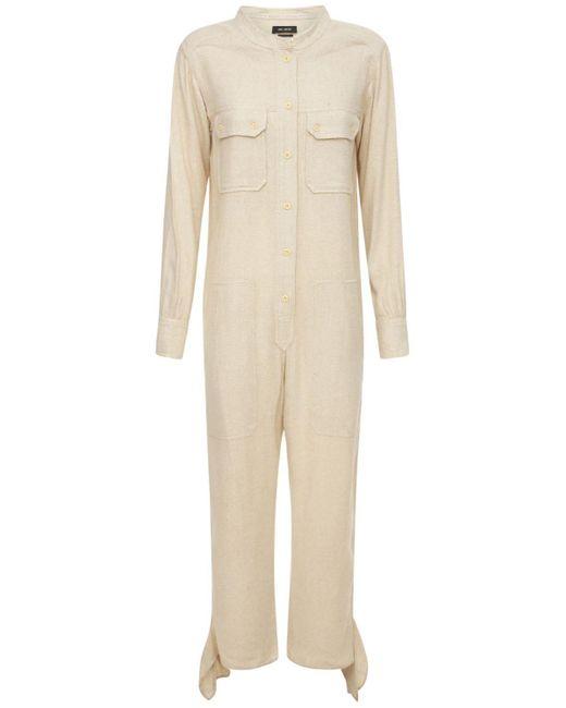 Isabel Marant Tacaia シルクジャンプスーツ White